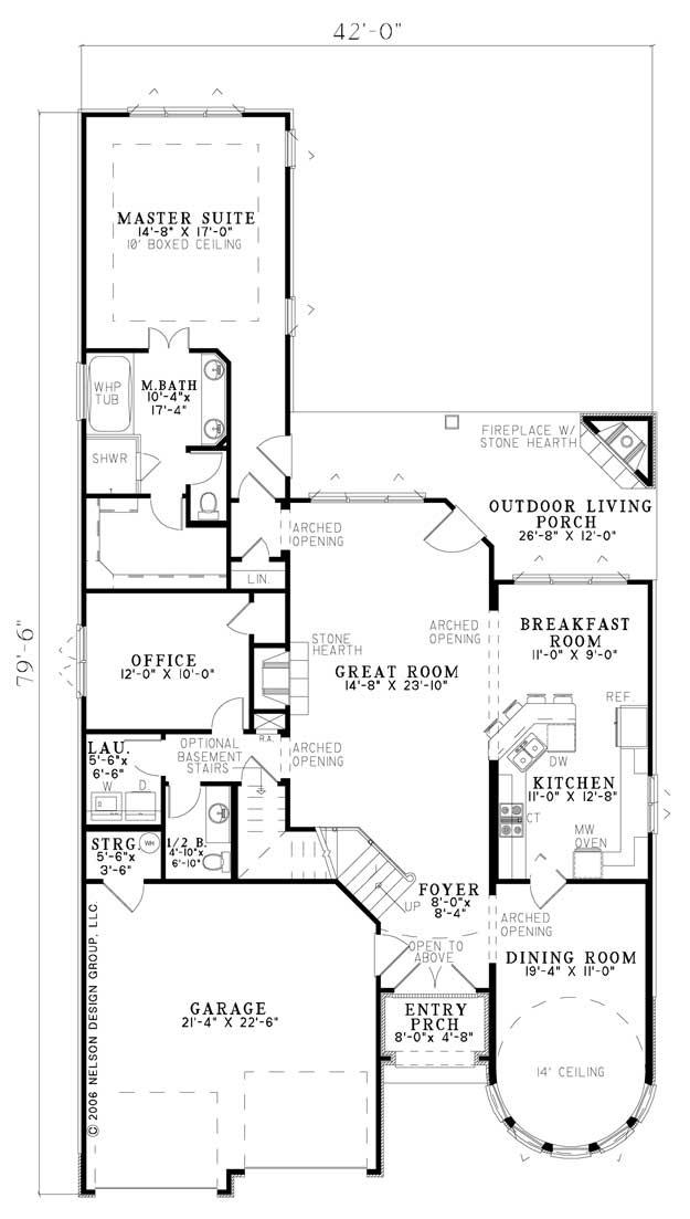 Nelson Design Group 1184 Floor Plan Ndg Plans Pinterest