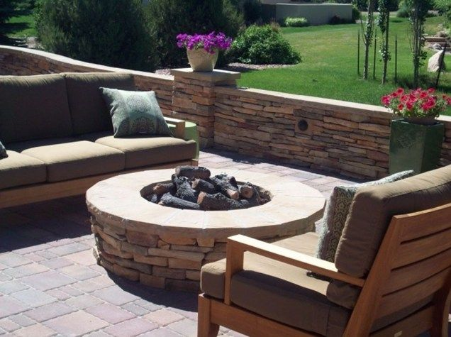 Backyard gas fire pit designs