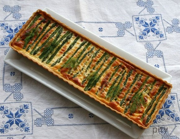 asparagus tart | Food - Breakfast | Pinterest