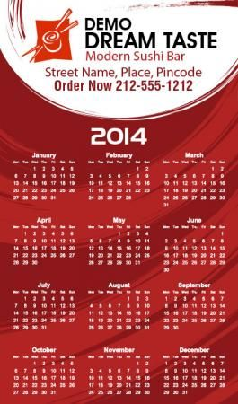 Pin by Custom Magnets Direct on 2014 Calendar Magnets | Pinterest