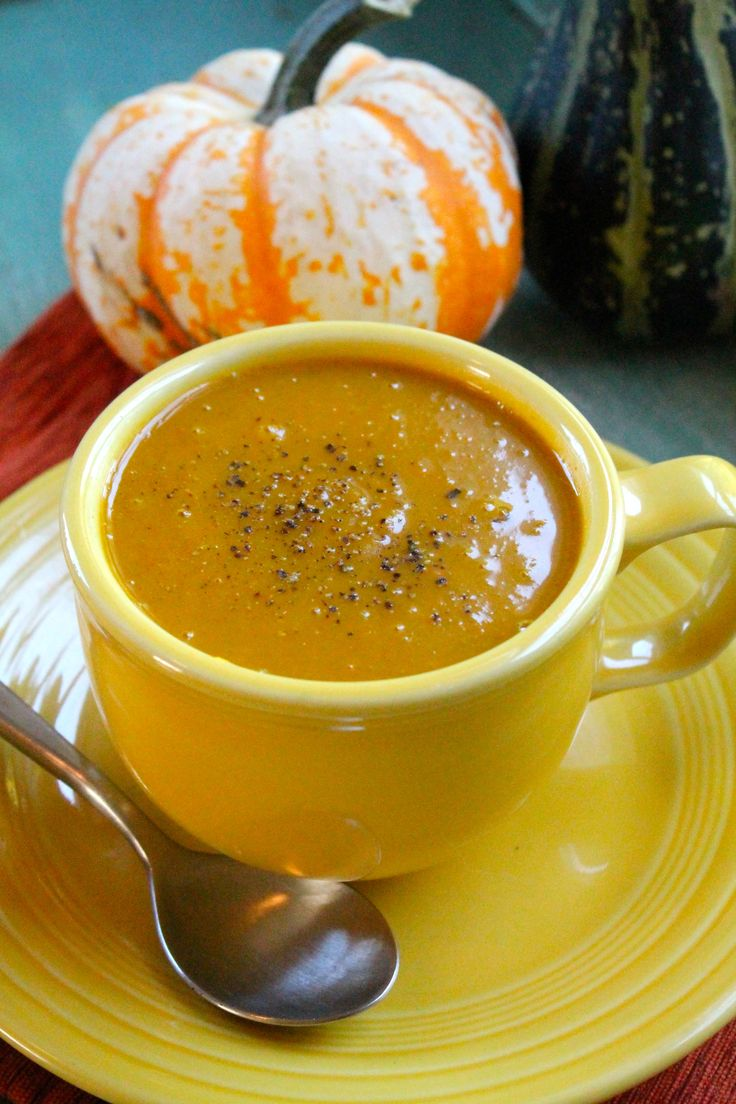 Curried Butternut Squash and Carrot Soup | Soups & Stews | Pinterest