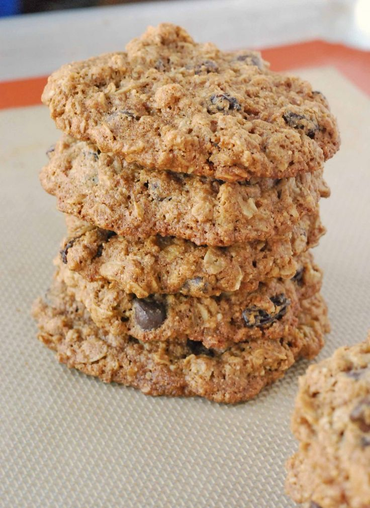whole wheat chocolate chip oatmeal cookies. can't wait to try these ...