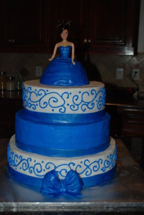 Via Affordable Elegance BridalQuinceanera Cakes Blue