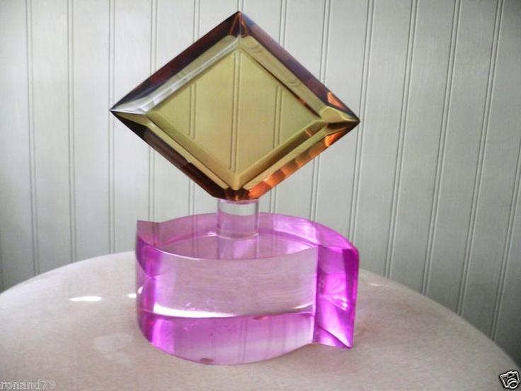 Van Teal Lucite Art Sculpture in A Perfume Bottle Look Like | eBay