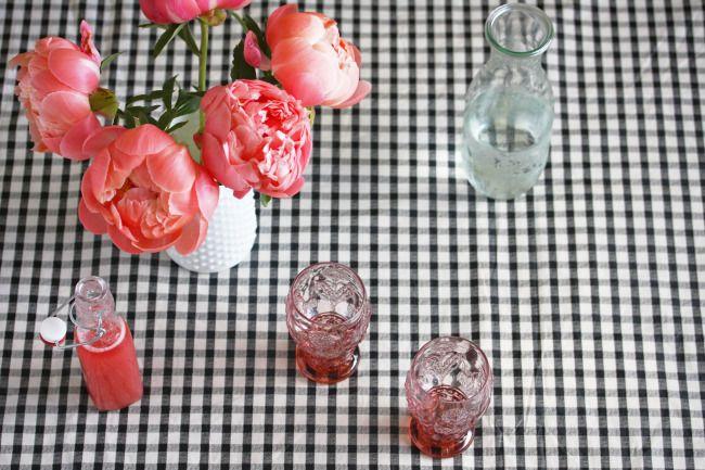 Rhubarb & Rosewater Syrup - elderflower