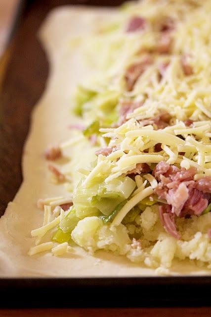 Leek, Ham And Potato Pie | Foods | Pinterest