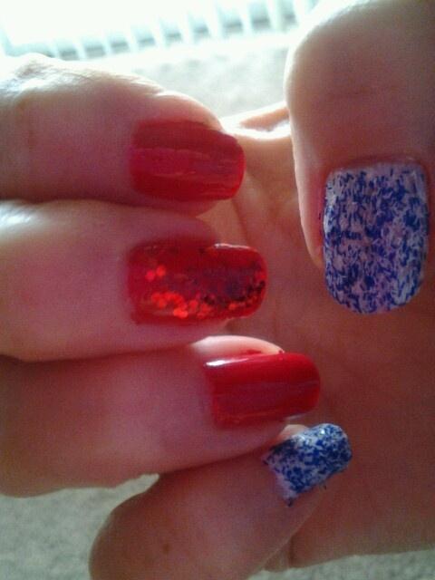 Red, White and Blue nail art | GOT NAILS? | Pinterest
