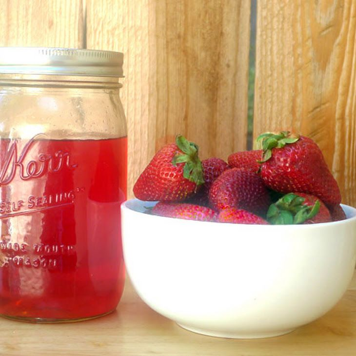DIY Strawberry Liqueur Recipe Ingredients 8 ounces strawberries ...