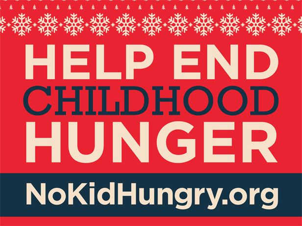 Join Food Network and Share Our Strength in making No Kid Hungry a reality this holiday season with a tax-deductible donation.