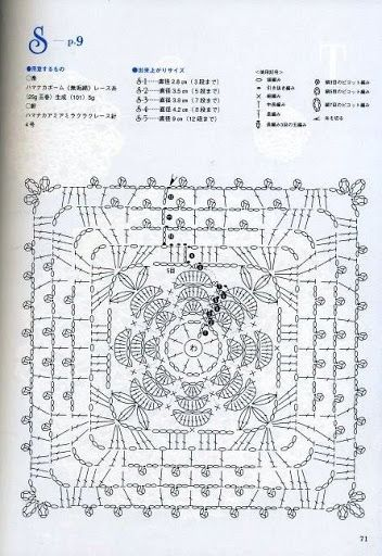 Безотрывное вязание мотивов крючком-схемы