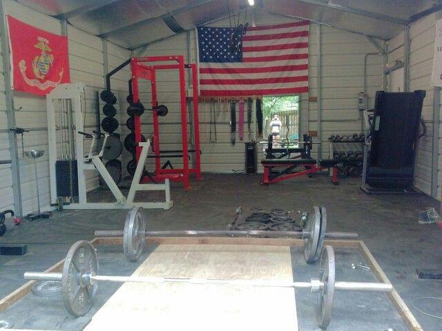 Diy home gym garage workout pinterest