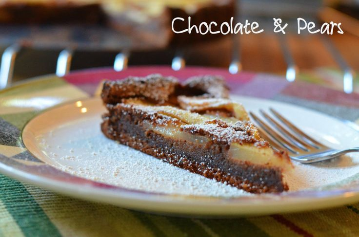 Two True Foodies: Chocolate Pear Tart Add glaze on top and crush ...