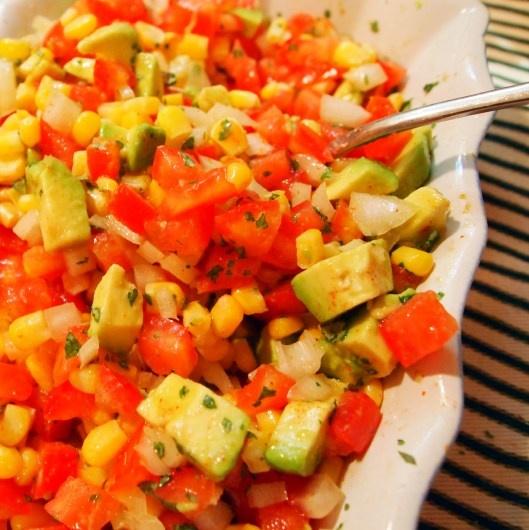 Corn and Avocado Salsa | Appetizers | Pinterest