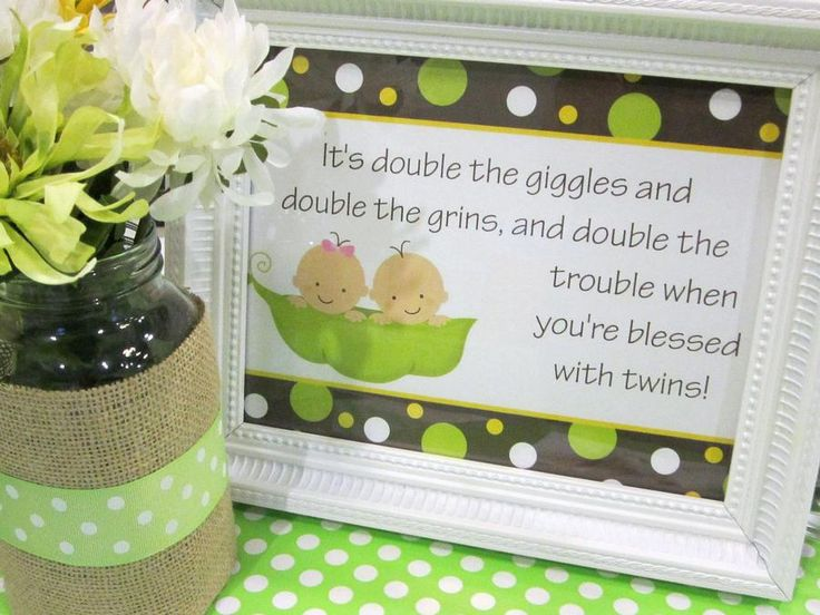 cute ideas for twin showers upcoming baby shower pinterest
