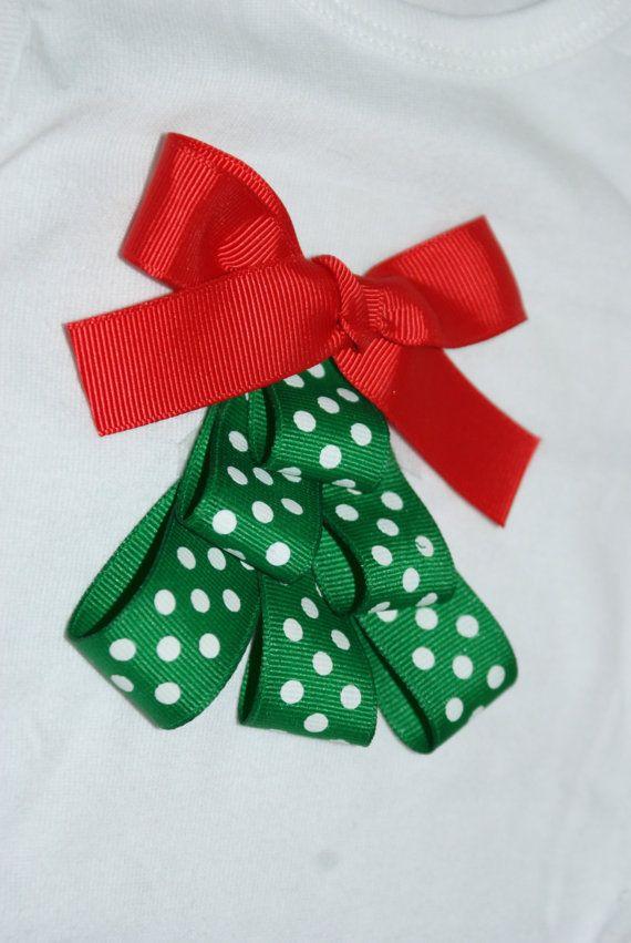 Christmas tree ribbon top