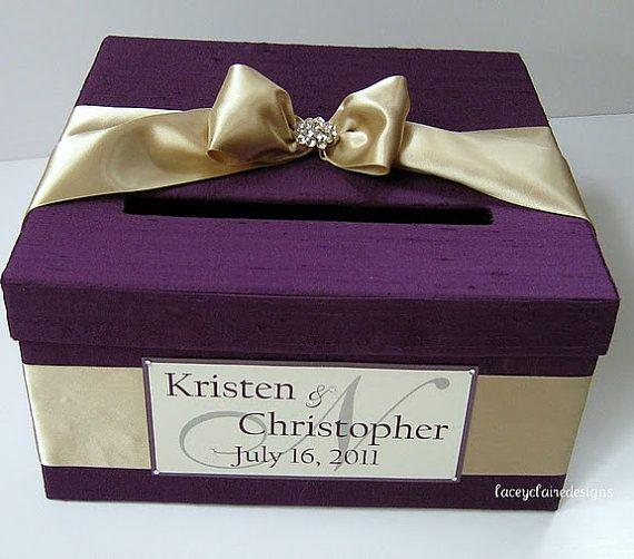 Wedding Gift And Card Box : Wedding Gift Card Box - Custom Made