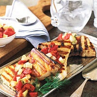 Grilled Swordfish with Tomato-and-Cucumber Salsa by Food & Wine