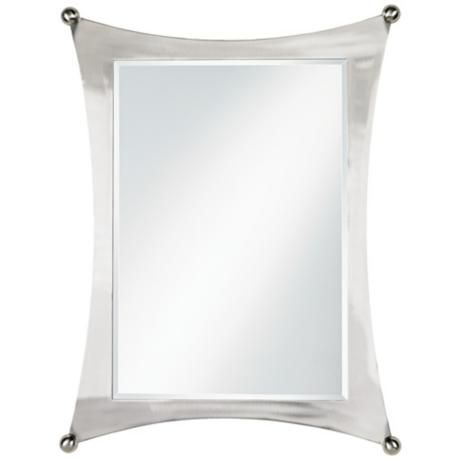Jordon Brushed Nickel Finish Metal 32 High Wall Mirror