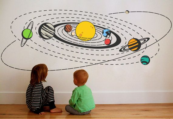 Comhanging Solar System For Kids Room : Comhanging Solar System For Kids Room : Solar System Wall Decals