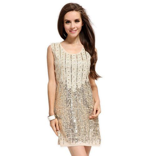 beige sleeveless short night party 2014 dresses in style fas