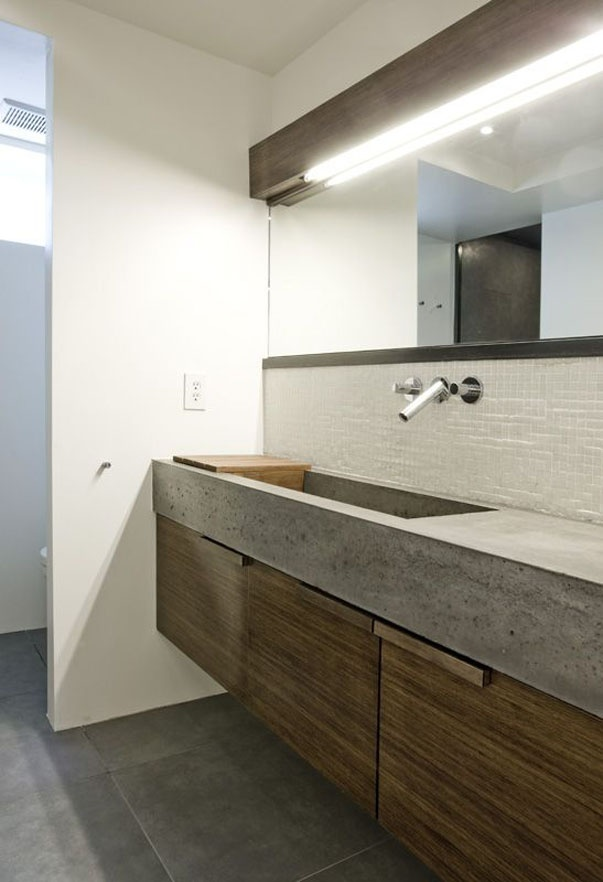 Cement Bathroom Sink : Concrete bathroom sink and storage idea Bathrooms. Pinterest