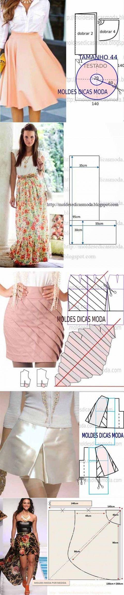 Разные юбки с выкройками