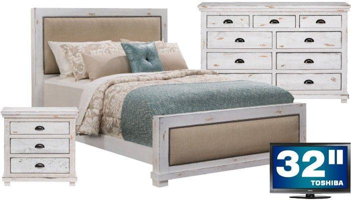 slumberland furniture willow collection hot queen bedroom tv