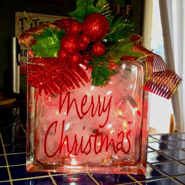 Christmas glass block christmas ideas pinterest - Glass block decoration ideas ...