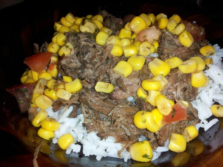 Barbacoa Beef, Corn Salsa, and Cilantro Lime Rice ~ recipes on my ...