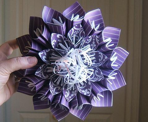 Paper folding flowers handmade tutorial diycraft tutorial amp great