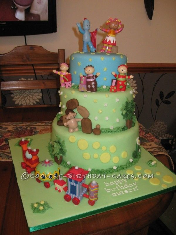 coolest in the night garden birthday cake