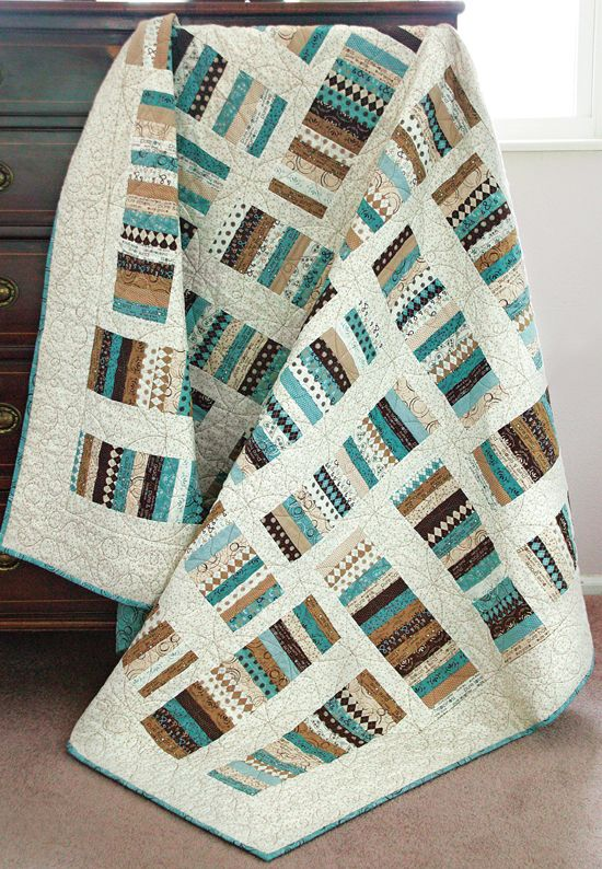Easy, but striking. Love the choice of fabrics in this one!