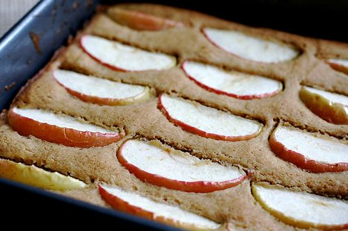 I loved this image of dimply plum cake