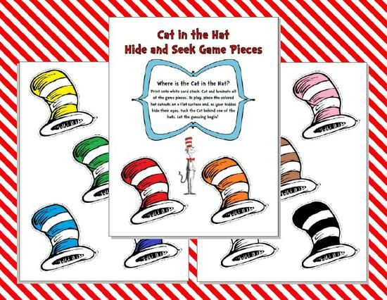 preschool dr seuss lesson plans cat in the hat hide and seek printable 809