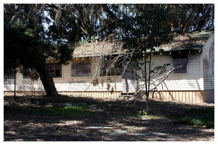 The now closed Fort Ord Army Post near Monterey Bay, California. The