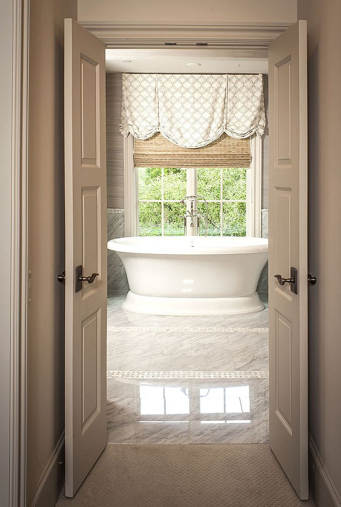 Window treatments bathrooms pinterest for Bathroom window treatments