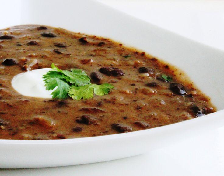Spicy black bean soup | Foodspiration | Pinterest