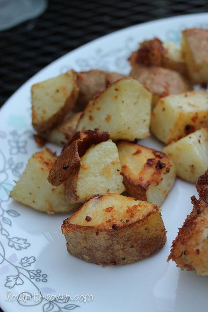 Parmesan Roasted Potatoes | recipeeeeeeeees | Pinterest