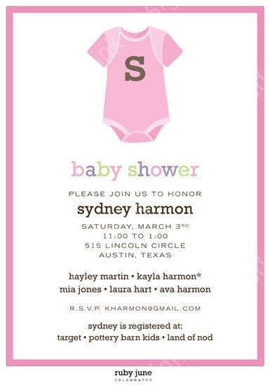 pink onesie baby shower invitation baby shawer pinterest
