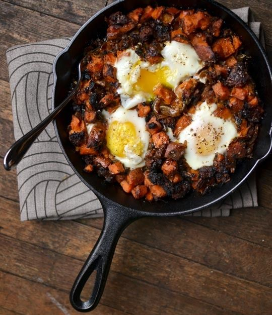 Sweet Potato Hash with Sausage & Eggs | The Kitchn