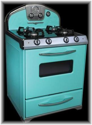 Teal vintage oven vintage appliances pinterest - Teal kitchen appliances ...