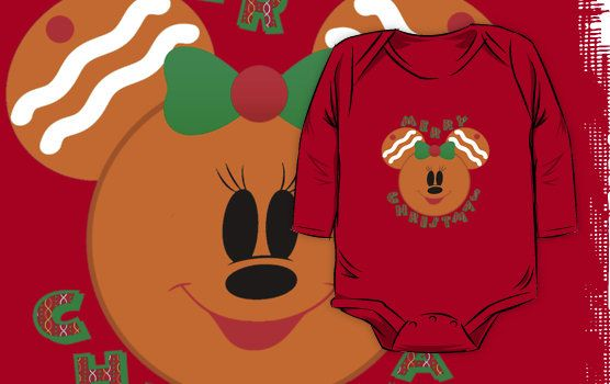 Minnie Mouse as Christmas Gingerbread man woman shirt by sweetsisters
