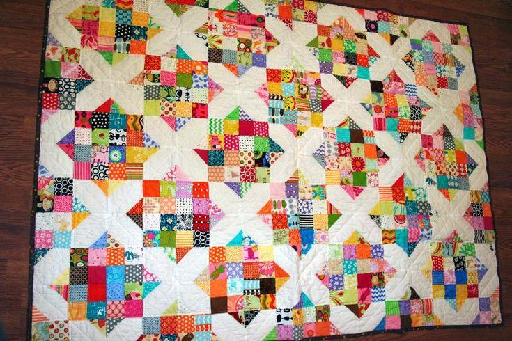 Arkansas Crossroads scrap quilt