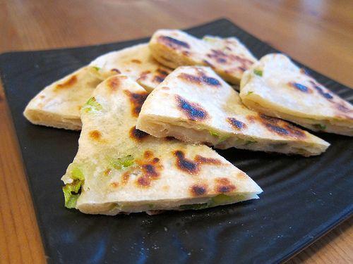 Chinese Green Onion Pancake // Asian Vegan Eats