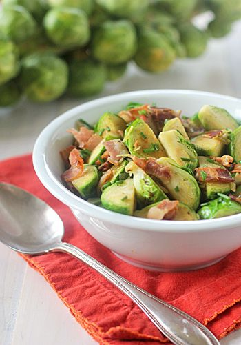 Brussels Sprouts with Bacon and Herbs | Vegetables | Pinterest