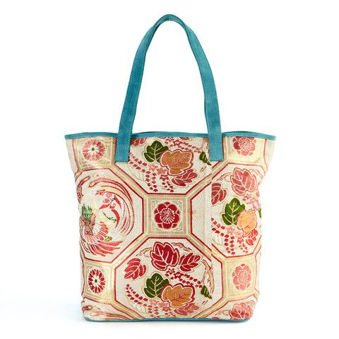 Ivory Embroidered Tote from India
