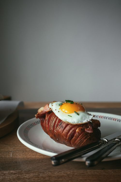 breakfast hasselback sweet potatoes | my name is yeh