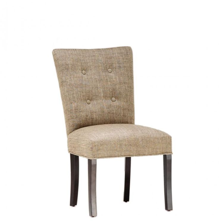 Button tufted dining chair dining room pinterest - Tufted dining room chairs ...
