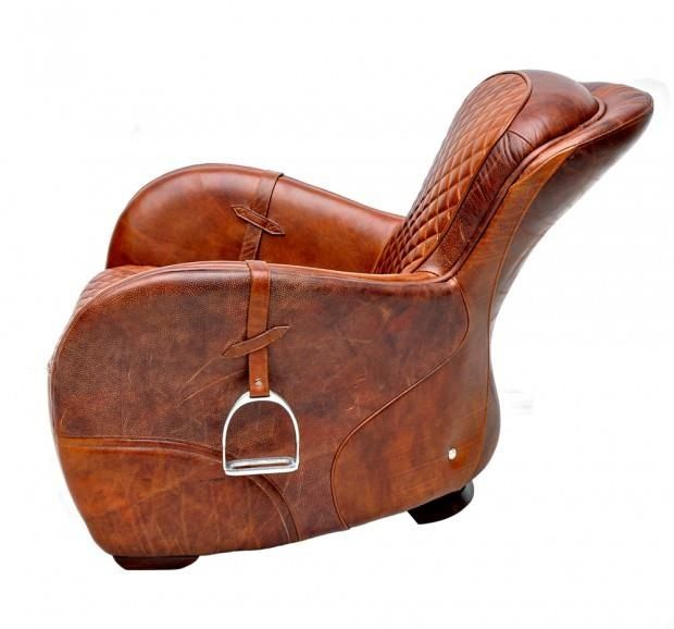 Horse saddle baby chair | leather - chair, object, special ...