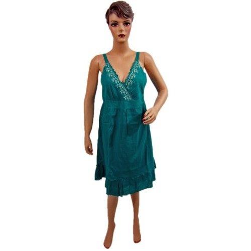 Womens Bohemian Clothing Teal Green Spaghetti Sundress V-neck Elastic